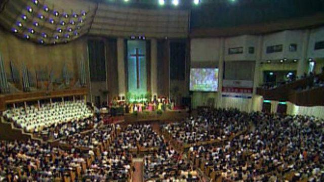 30% de la population en Corée du Sud sont chrétiens protestants.