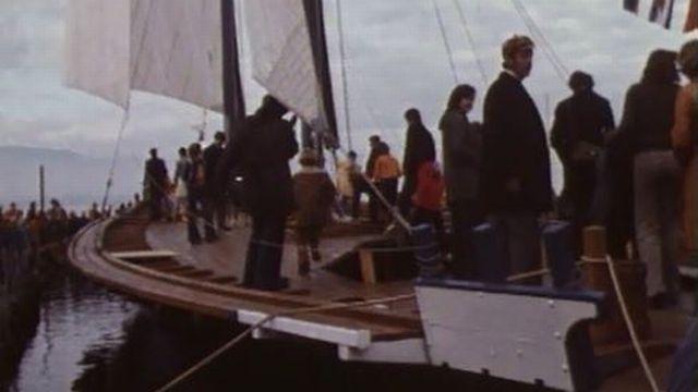 Le Neptune est une des dernières barge du Léman. [RTS]