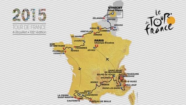 Le parcours du 101e Tour de France (carte) [RTS]