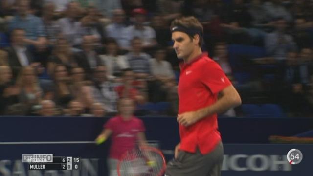 Tennis - Bâle Swiss indoors: Federer a dominé son adversaire Glles Muller en deux sets [RTS]