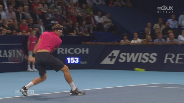 ⅛, Roger Federer (1-SUI) - Denis Istomin (RUS). Le Russe crée la surprise et remporte la 1re manche [RTS]