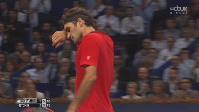 ⅛, Roger Federer (1-SUI) - Denis Istomin (RUS) (3-6 6-3). Federer obtient le droit de disputer un 3e set [RTS]