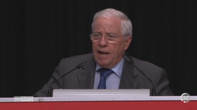 UDC: l'initiative pour la primauté du droit suisse sur le droit international est approuvée par les délégués du parti [RTS]
