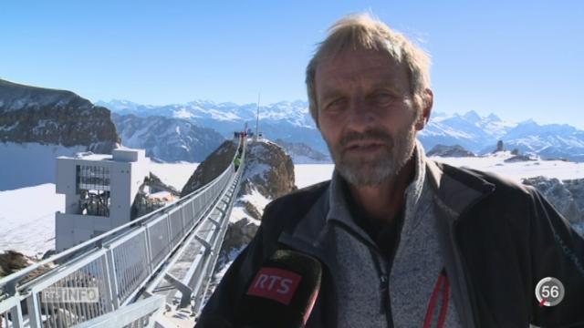Glacier 3000 a inauguré un pont suspendu aux Diablerets (VD) [RTS]