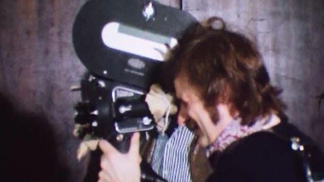 Le tournage du dernier Ciné-Journal suisse au format 35 mm. [RTS]