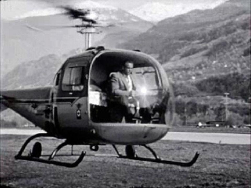 Le sauvetage en montagne peut également se faire en hélicoptère.