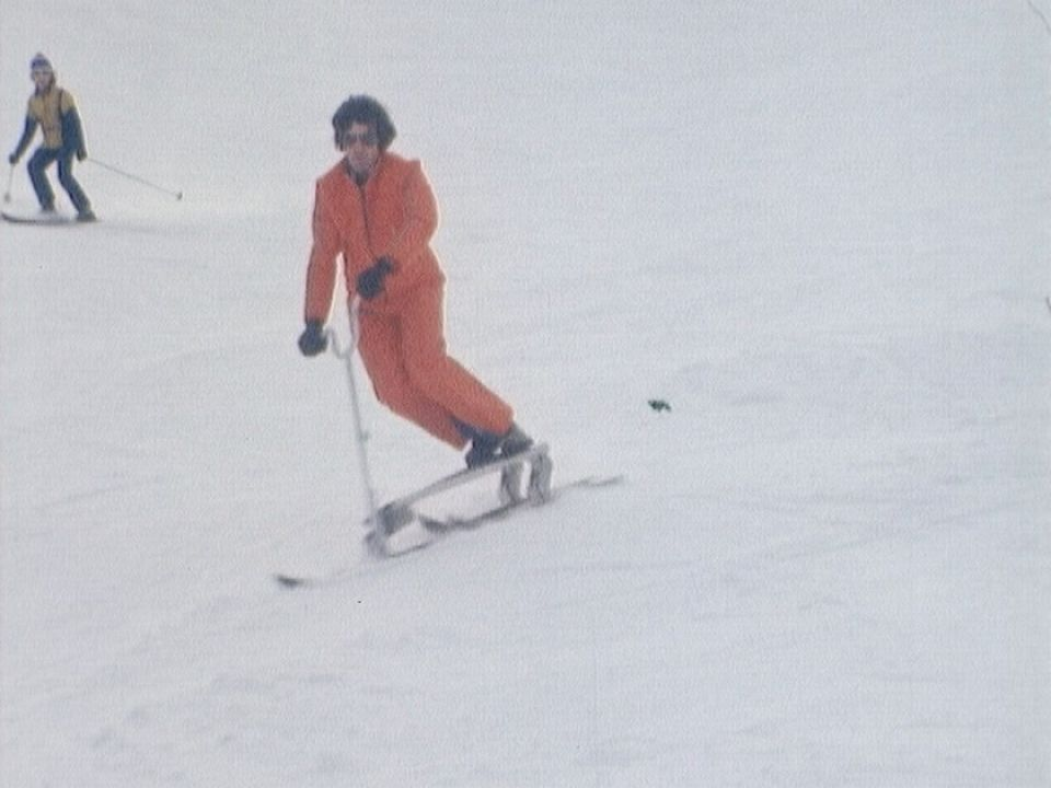 Démonstration de triski à Ovronnaz en 1975. [RTS]