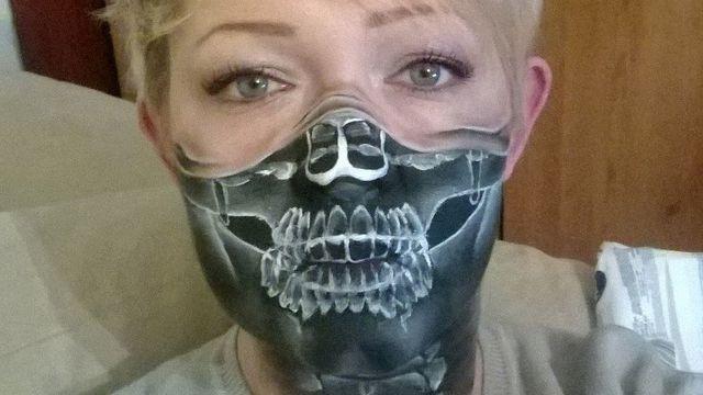 L'un des maquillages de l'Anglaise Nikki Shelley. [facebook.com/pages/The-Painting-Lady-Face-Body-Art-Rugby]