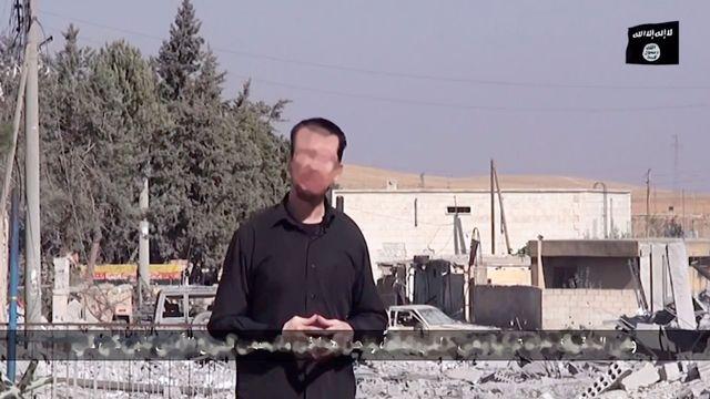 La vidéo sur laquelle apparaît l'otage britannique. [HO/Islamic State group via Youtube - AFP]