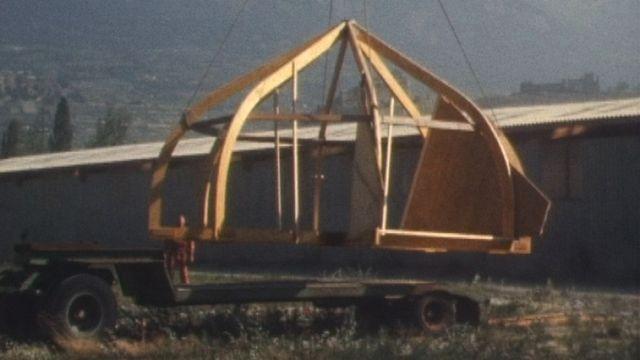 Une cabane venue du froid. [RTS]