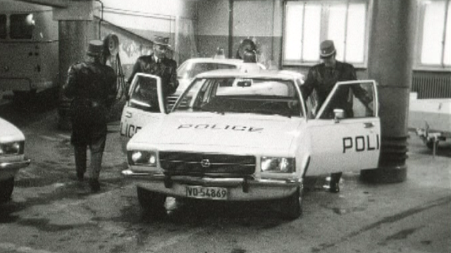 Police lausannoise 1974. [TSR archives]