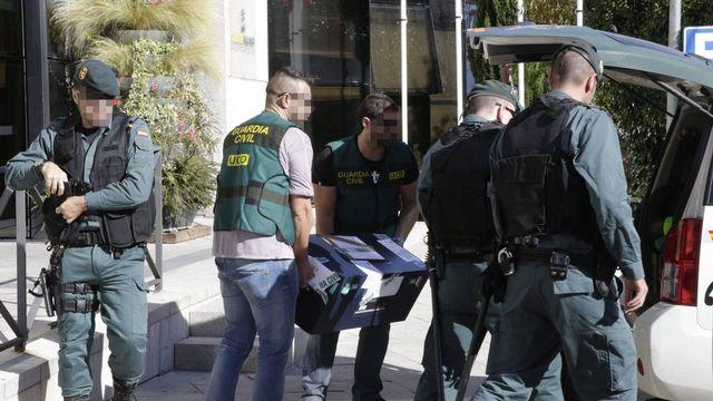 La police espagnole a procédé à plus de 50 arrestations dans le cadre de son enquête. [Keystone]