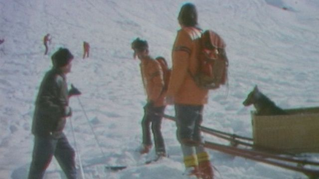Exercice de secours en montagne. [RTS]