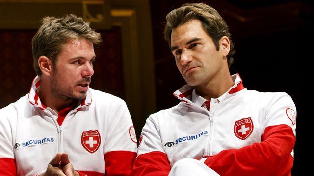 Wawrinka et Federer se concentrent pour le moment sur Paris-Bercy et le Masters. [Salvatore Di Nolfi - Keystone]