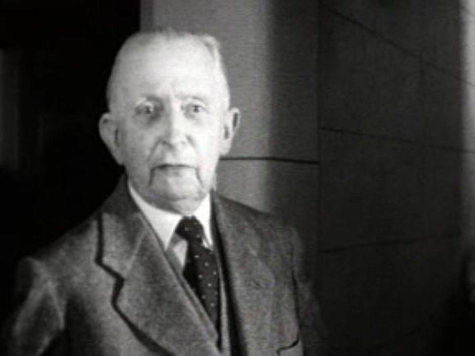 Gonzague de Reynold dans sa maison de Cressier en 1957. [RTS]