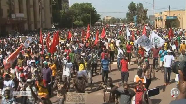 Burkina Faso: les manifestants sèment le chaos à Ouagadougou [RTS]