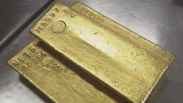Lingots d'or de la BNS en 1997. [RTS]