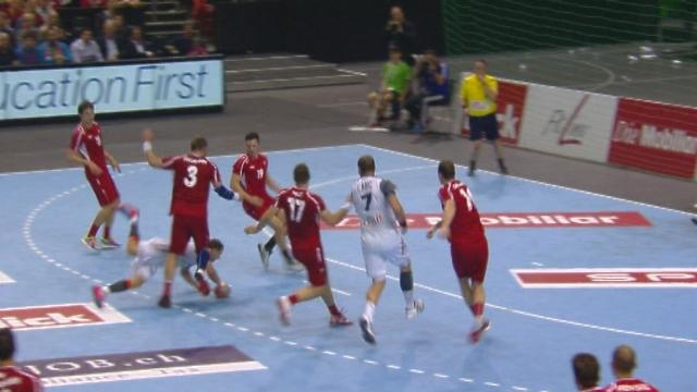 Groupe 6, Suisse - France (11-15): les Suisses sont menés de 4 points en fin de première mi-temps [RTS]