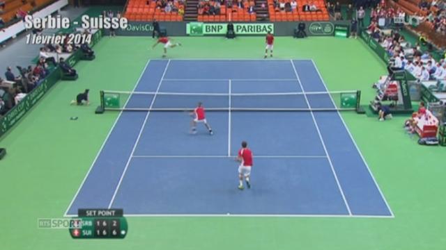 Tennis - Coupe Davis: à trois semaines de la finale, la pression est clairement monté d'un cran [RTS]