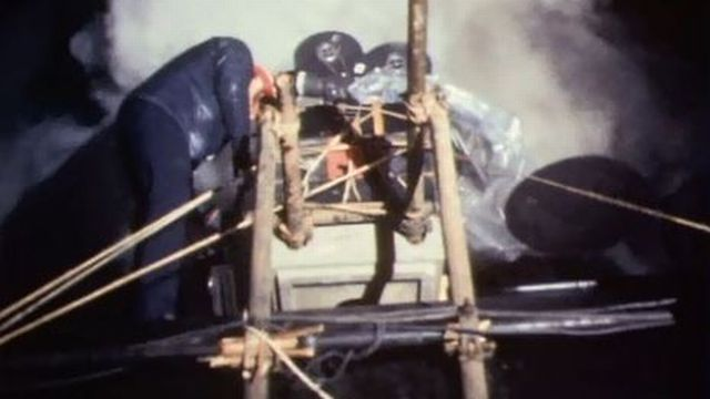 Sur le tournage du film «Le Crime de l'Orient-Express». [RTS]
