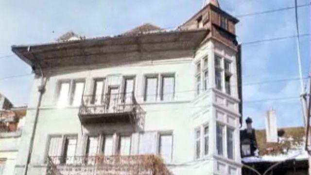Cette demeure du XVIIe siècle abrite le restaurant Aigle Noir. [RTS]