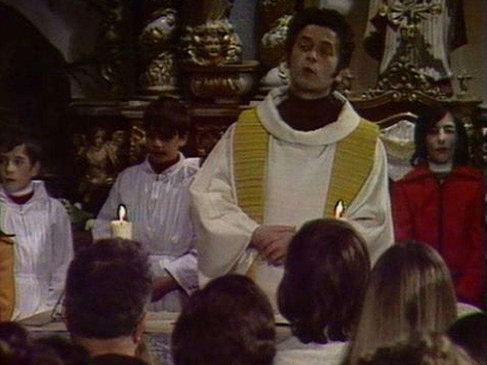 La messe de minuit avec le chanteur Gilbert Becaud. [RTS]