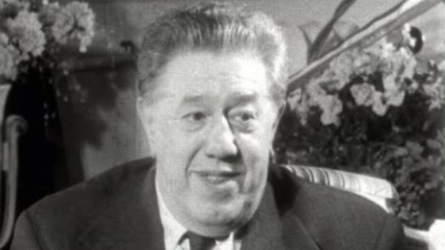 L'acteur hélvétique Michel Simon en 1958 [RTS]