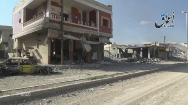 Le groupe Etat islamique filme les rues de Kobané [RTS]