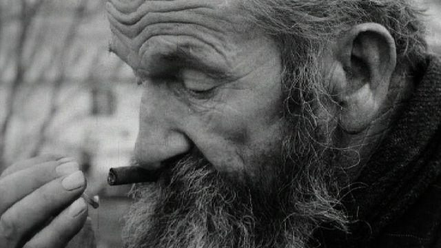 Papa Twist, clochard à Genève, en 1966. [RTS]