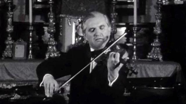 Le violoniste Tibor Varga en concert au festival de Sion.