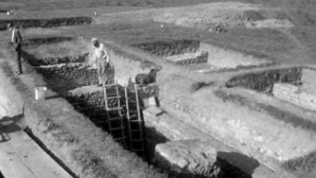 Une découverte archéologique dans la cité romaine à Avenches.