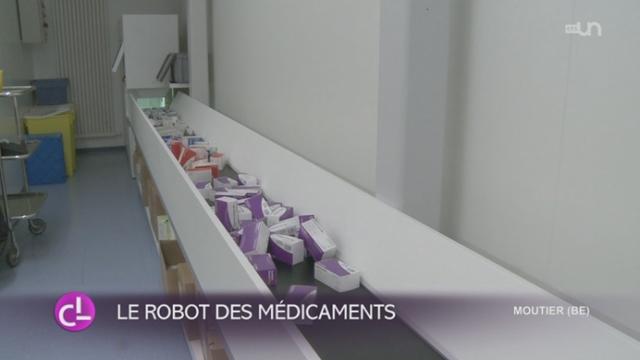 JU: un hôpital s'équipe d'un robot pour gérer et distribuer les médicaments [RTS]