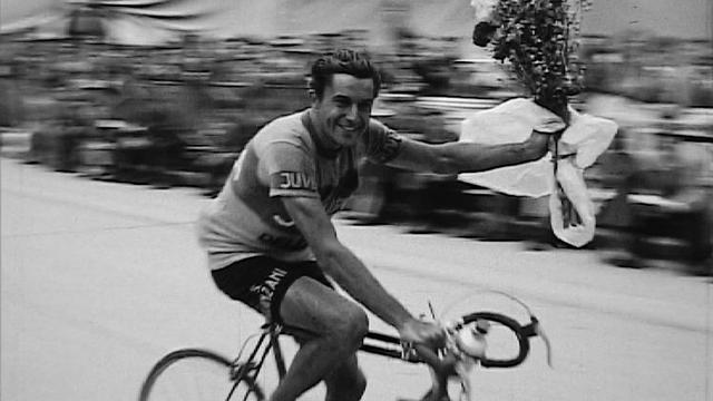 Hugo Koblet, un champion suisse du cyclisme. [RTS]