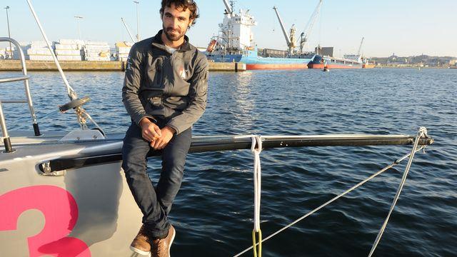 Le skipper Alan Roura. [Jean-François Monier - AFP]