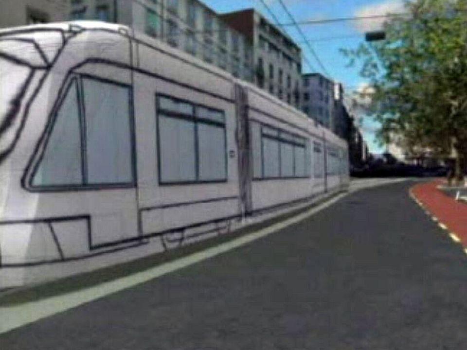 Image virtuelle du projet d'aménagement du tram.