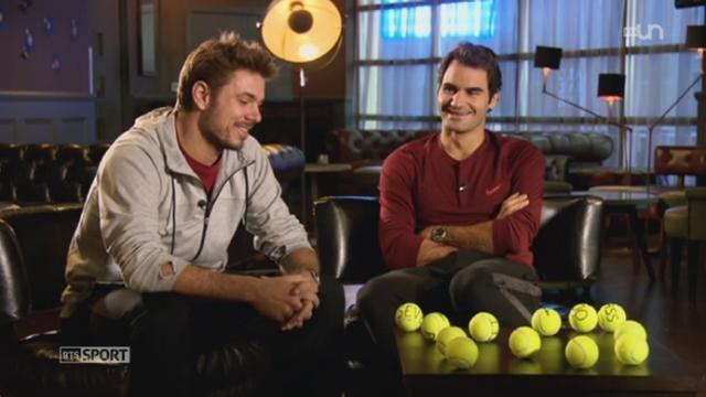 Tennis: Wawrinka et Federer donnent un entretien exclusif [RTS]