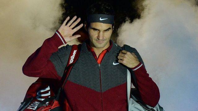 """Federer a réussi ses débuts dans le """"Tournoi des Maîtres"""". [FACUNDO ARRIZABALAGA - Keystone]"""