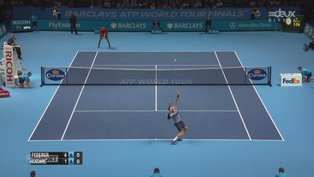 Federer - Raonic (6-1, 7-6): Federer remporte ce match au tie-break (7-0) [RTS]