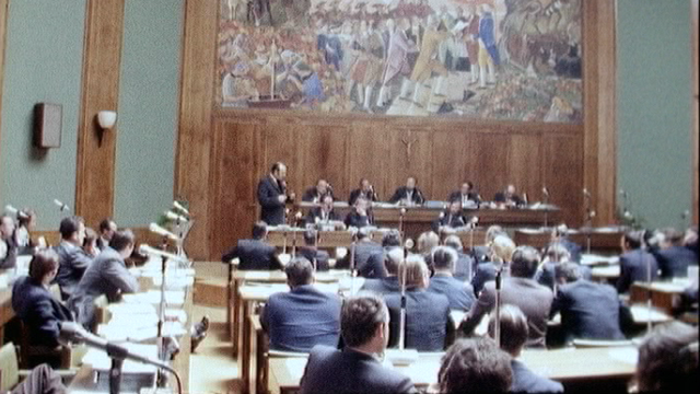 Grand Conseil valaisan en 1973. [RTS]