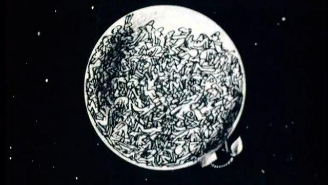 Train bondé en 1973. [RTS]