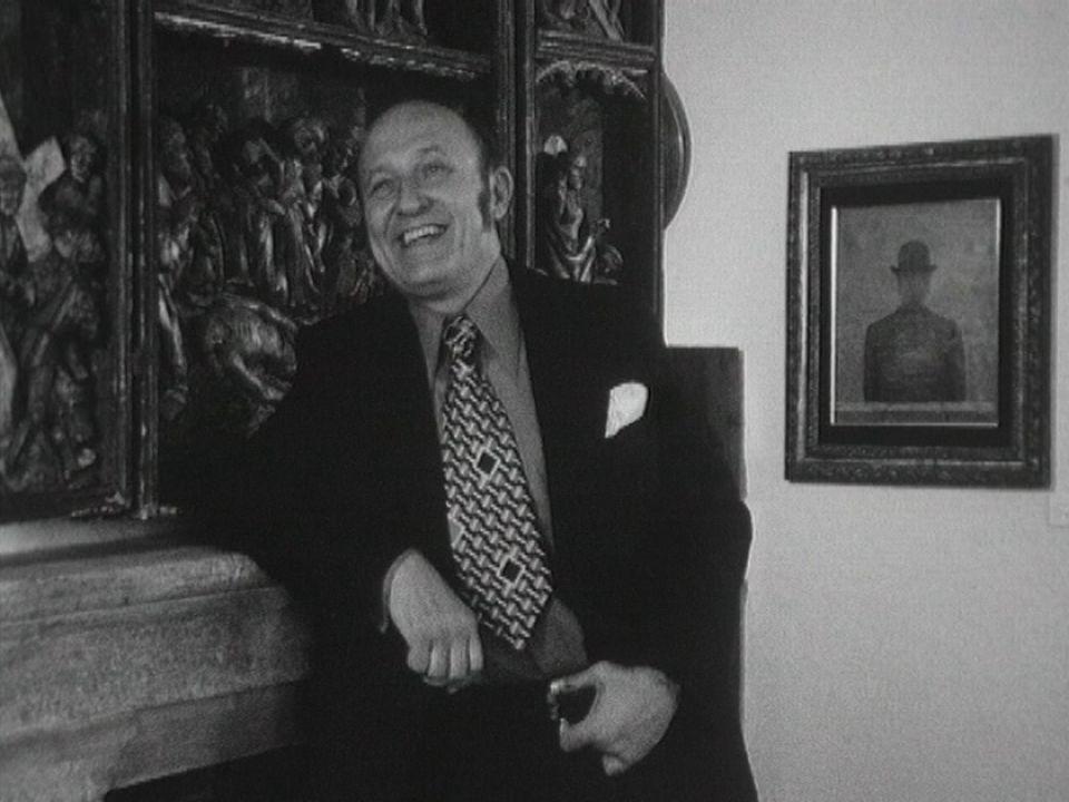 Frédéric Dard chez lui en 1973. [RTS]