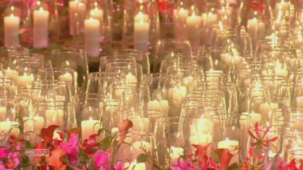 Ceremonie en memoire des victimes du crash du MH17 [RTS]