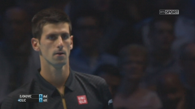 "Djokovic - Cilic (6-1): ""Djoko"" remporte cette 1ère manche en 27 petites minutes [RTS]"