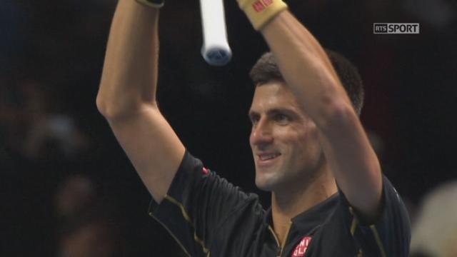 Djokovic - Cilic (6-1, 6-1): Djokovic conclut cette partie sur un jeu blanc [RTS]