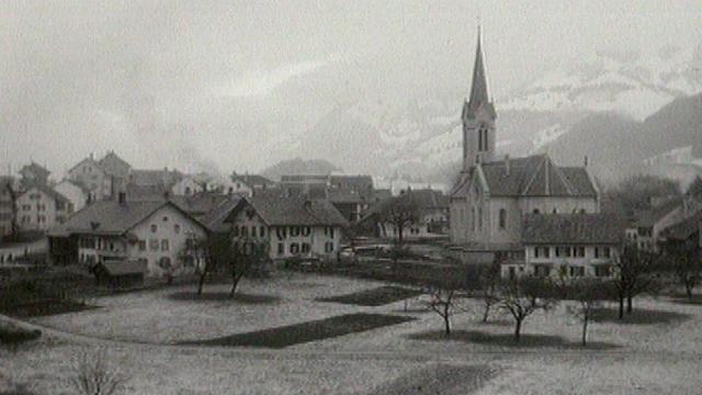 Le village d'Albeuve. [TSR 1973]