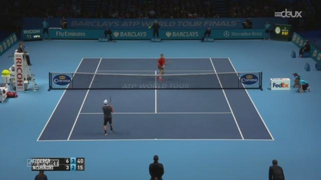 Tennis - Masters de Londres: Federer - Nishikori (6-3, 6-2) [RTS]
