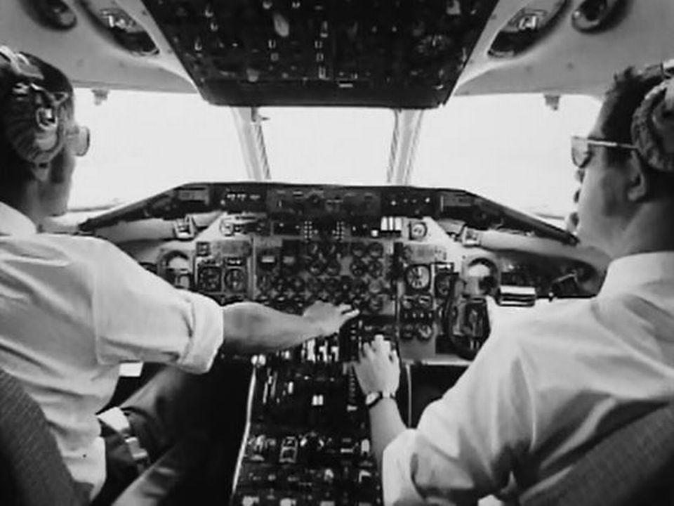 Etre pilote de ligne, le nec plus ultra chez Swissair. [RTS]