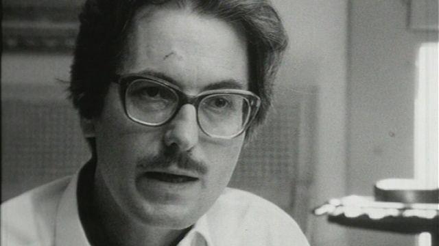 L'écrivain Walter Weideli en 1972. [RTS]