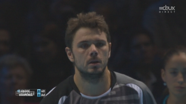 Tennis - ATP Master, Wawrinka - Djokovic (1-0): Wawrinka break d'entrée Djokovic [RTS]