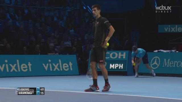 Tennis - ATP Master, Wawrinka - Djokovic (3-6): Djokovic remporte sans difficulté le 1er set [RTS]